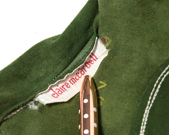 Vintage 1950s Gloves | 50s CLAIRE MCCARDELL Green… - image 6
