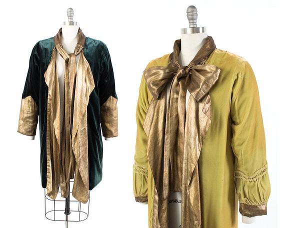 Vintage 1920s Coat   20s REVERSIBLE Silk Velvet Ch