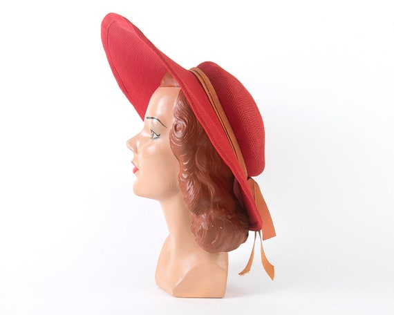 Vintage 1940s 1950s Sun Hat | 40s 50s NEW YORK CR… - image 6