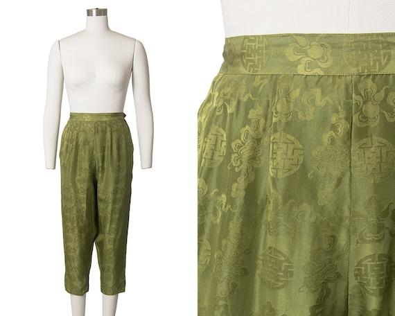 Vintage 1950s 1960s Capri Pants | 50s 60s Silk Asi