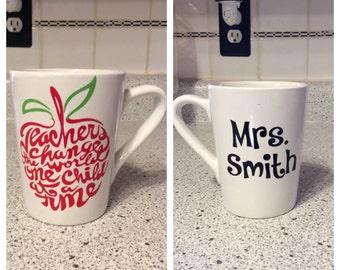 Teacher Gift - Personalized Coffee Mug