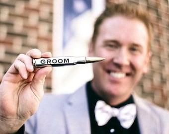 Chrome Engraved .50 Caliber Bullet Bottle Opener. Anniversary gift for husband. Boyfriend Gift. Best Man Gift. Groomsman. Usher. Wedding.