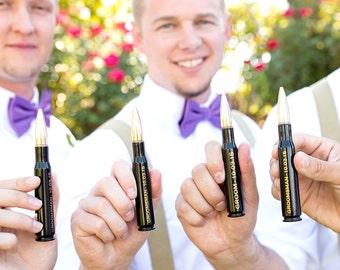 5 Custom Wedding Black Groomsmen Gifts .50 Cal Personalized Bullet Bottle Openers. Groom Gift. Father of the Bride Gift. Best Man Favor