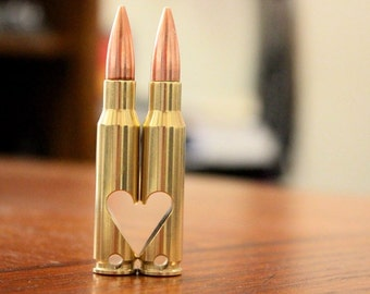 Perfect Father's Day Gift! 7.62mm Keychain Bullet Bottle Opener. Buy Two to Make a Heart! Boyfriend Gift, Husband Gift, Couples Gift