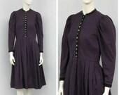 Vintage Purple Dirndl Dress, Floral Dress, Victorian Dress, German Dress, Bavarian Dress, Oktoberfest Dress, Trachten Dress, Alpen Dress