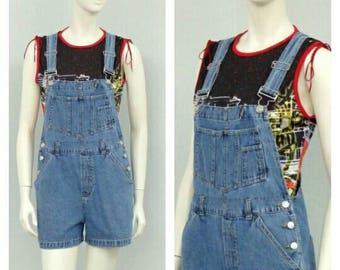 1a2173df022 Vintage 90s Denim Short Overalls
