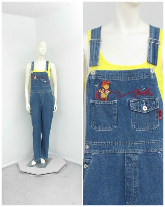 Vintage 90s NOS Winnie The Pooh Denim Overalls, Di