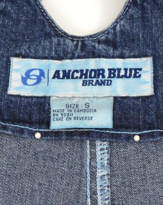 Vintage 90s Denim Short Overalls, Tie Back Overal… - image 10