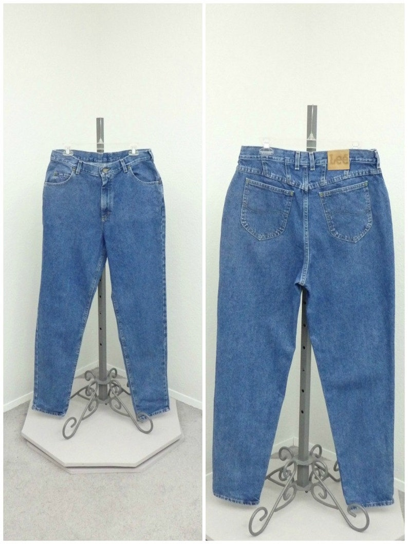 ee484fa85e46 Vintage 90s Lee High Waisted Jeans Blue Jeans Mom Jeans
