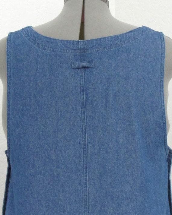 Vintage 90s Denim Jumper Dress, Jean Jumper, Deni… - image 7