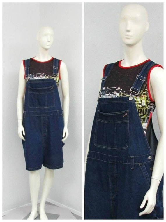 Vintage 90s Plus Size Denim Short Overalls Overall Shorts Etsy
