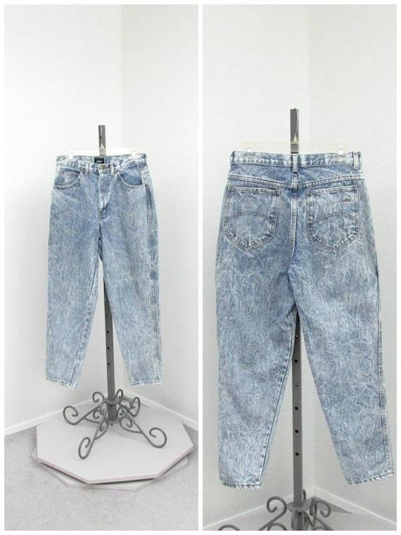 Vintage 80s Acid Wash Jeans, High Waisted Jeans, M