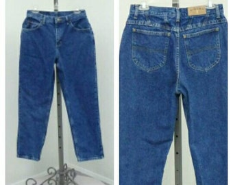 """Vintage 90s Riders High Waisted Jeans, Blue Jeans, Mom Jeans, High Rise Jeans, High Waist Jeans, Relaxed Fit Jeans, 29"""" Waist"""