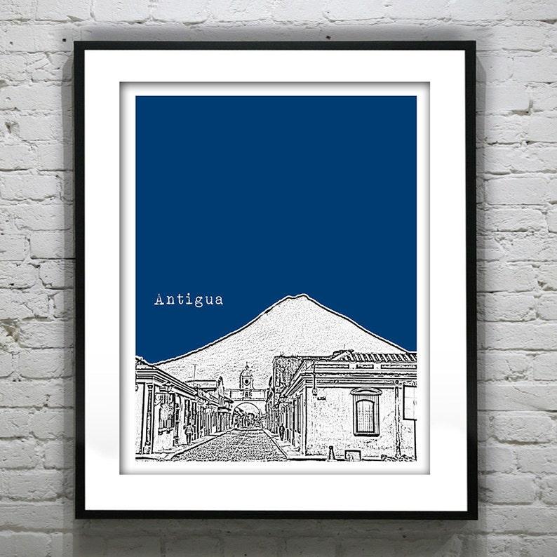 Antigua poster Art Skyline Print Version 1