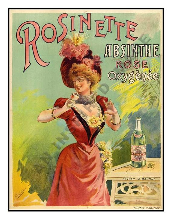 AZ08 Vintage 1896 Absinthe Robette Liqueur Drink Framed Poster A3//A4