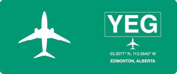 Mug Airline Travel Gift Pilot Airport Canada Edmonton Airport Edmonton YEG
