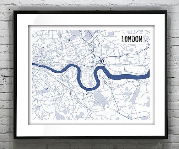 London england uk blueprint map poster art print several malvernweather Images