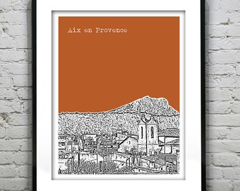Aix en Provence France Poster City Skyline Art Print Item T4204
