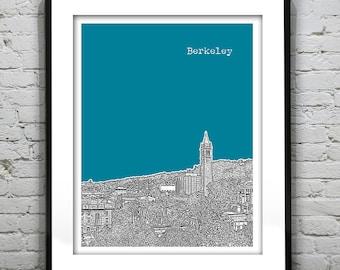Berkeley Skyline Poster Art Print California CA Item T4562