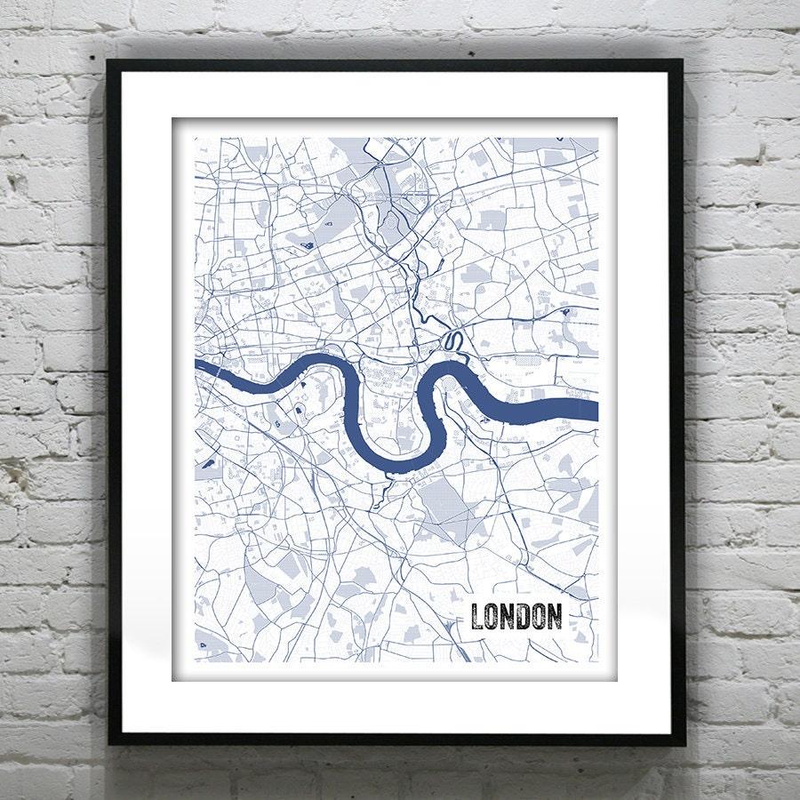 London england uk blueprint map portrait poster art print several london england uk blueprint map portrait poster art print several sizes available malvernweather Images