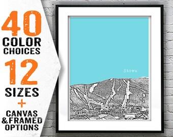 Stowe Ski Vermont Skyline Poster Art Print VT Item T2743