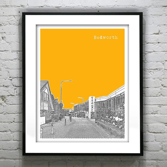 Bedworth england poster art print uk britain united