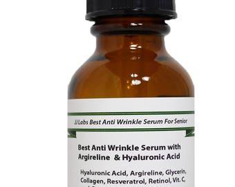 Senior Best Anti Wrinkles Serum with Argireline & Hyaluronic Acid 1.2 oz