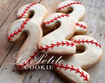 Vintage Baseball Sugar Cookies (1 dozen)