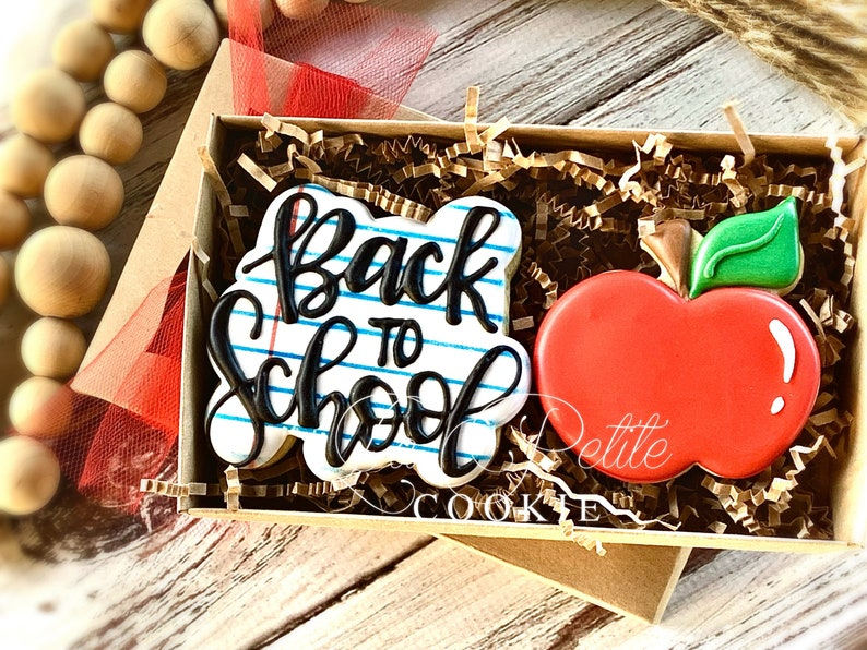 Back to school/ First day of School cookie gift set/ teacher image 0