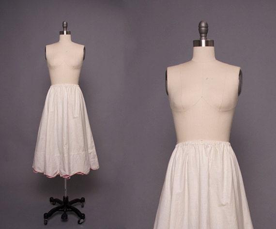 vintage 1950s cotton crinoline slip • Revival Vint