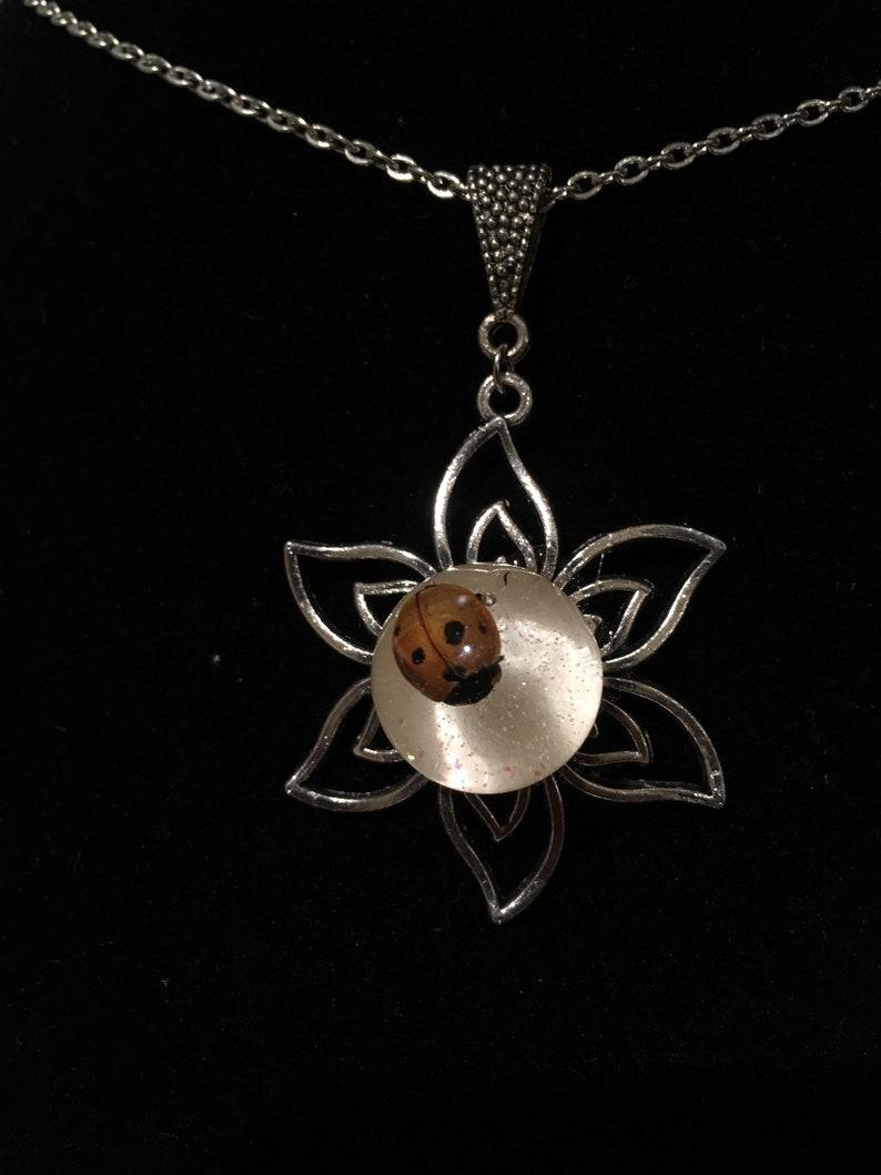pastel goth steampunk insect jewelry B-GRADE Ladybug Orb Pendant oddities scarab cabinet of curiosities beetle memento mori