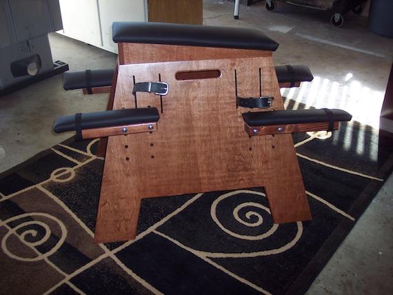 Dungeon/Sex Furniture (BDSM Bench)- Chestnut Red w/ black padding