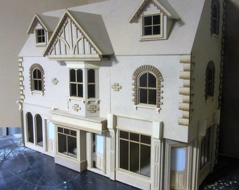 1/12 scale Dolls House  The York Street   Row 0f 3 Shops with 6 rooms above KIT