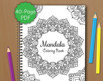 Mandala Coloring Book For Adults PDF 40 Pages To Print And Color