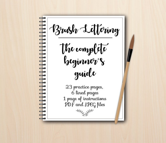 Beginner Brush Lettering Worksheets Pdf And Jpeg Printable And Digital Modern Calligraphy Hand Lettering Practice Procreate Ipad Pro