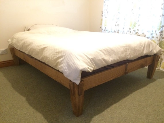 best cheap b2915 08701 Solid Oak platform Bed. Tatami Japanese joinery.