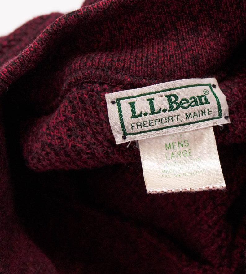 Vintage 90s LL Bean maroon menswear henley minimal sweater