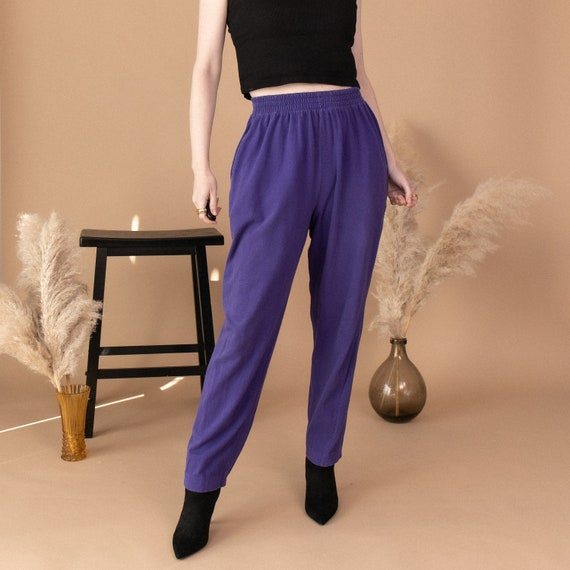 Vintage easy up purple track elastic sweat pants
