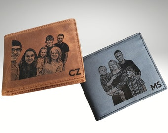 Mens Wallet, Personalized Mens Wallet, Engraved Mens Wallet, Photo Wallet For Men, Custom Wallet For Men, Valentines Gift, Fathers Day Gift