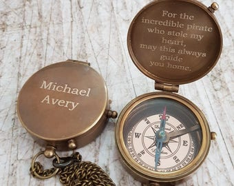 handmade compass, engraved compass, personalized compass, working compass, compass, fathers day gift, christmas gift, groomsmen gift