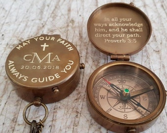 baptism gift, baptism, baptism day gift, confirmation, christening gifts, engraved compass, personalized compass, confirmation gift
