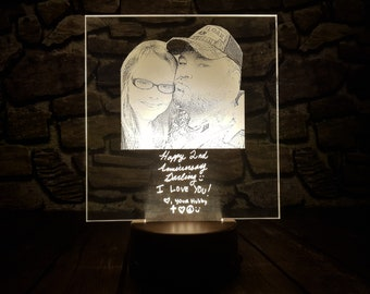 Lights & Lighting Valentines Day Gifts Customized Four Love 3d Lights Seven Color Touch Remote 3d Visual Table Lamps For Living Room Led Table Lamps