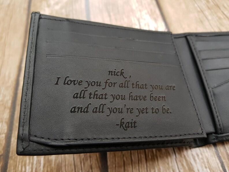 426b07dcd8 Mens portafoglio portafoglio Mens personalizzato | Etsy