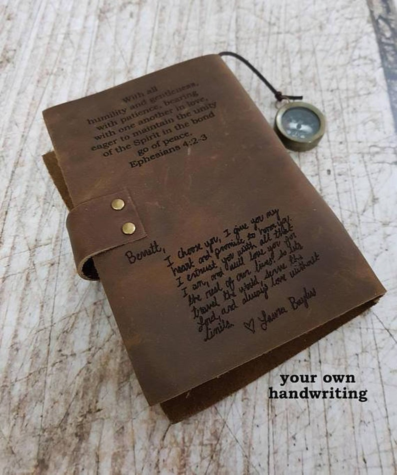 Leather Journal Personalized Journal Personalized Leather Journal Leather Notebook Leather Journals Engraved Journal With Compass