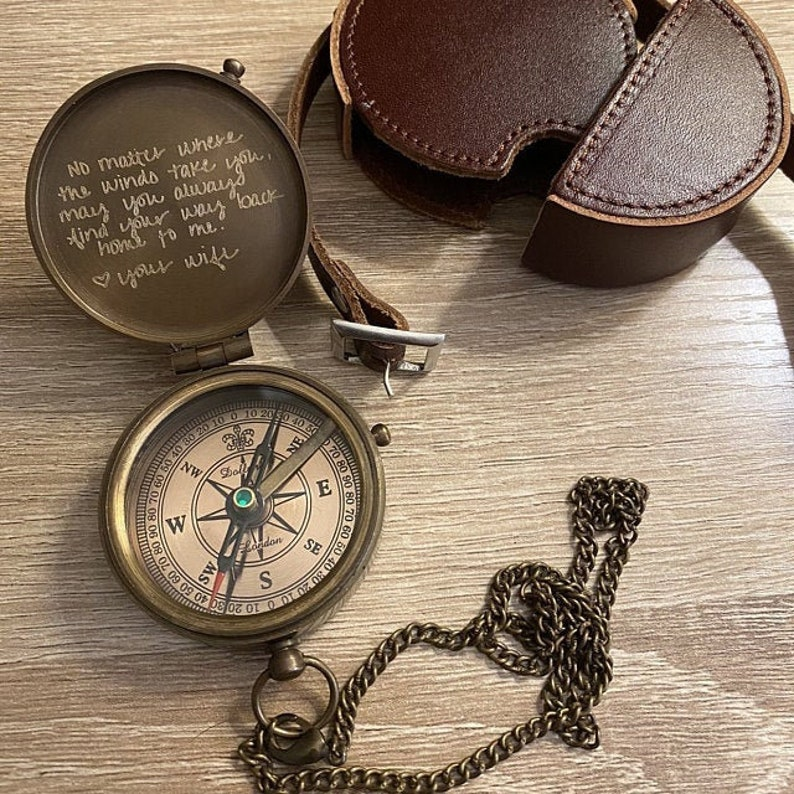 This engraved compass is absolutely stunning when the receiver opens up the package. The picture you send for a custom engraving would blow your loved ones away.