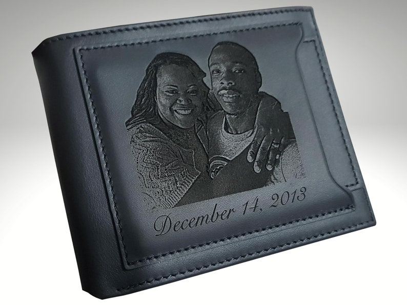 Mens Wallet Personalized Mens Leather Wallet Custom Mens image 0