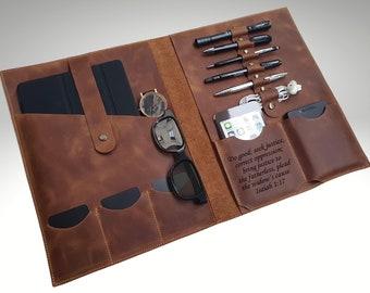 Personalized Leather Organizer, Custom Leather Portfolio, Leather Binder, Leather ipad Case, Personalized Leather Portfolio, Notepad Holder