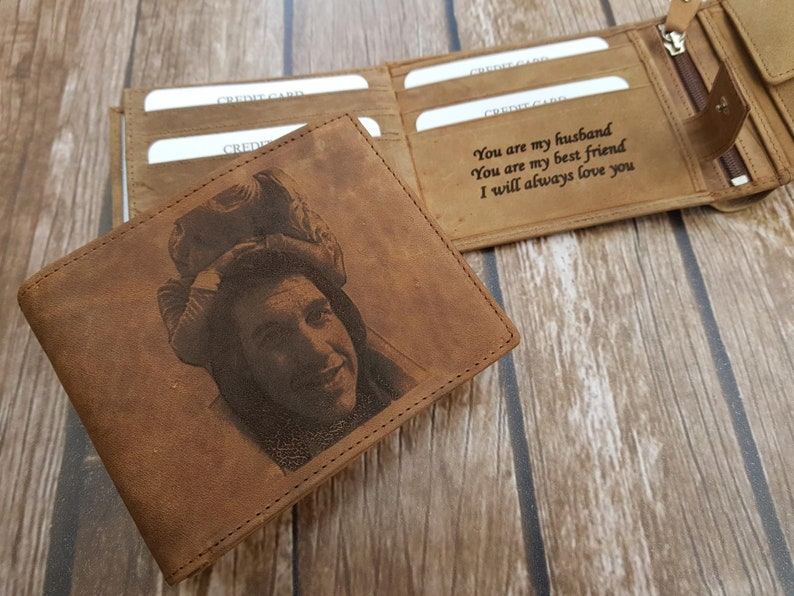 f53890aeb1bc3 Personalized trifold wallet photo wallet personalized wallet