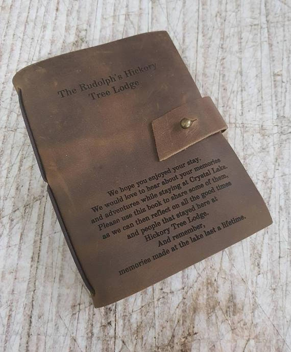 Leather Journal Personalized Journal With Working Compass