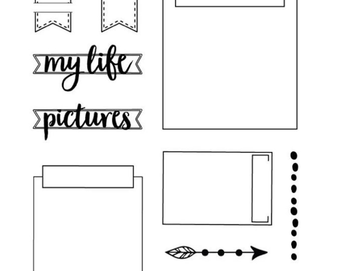 ECD Planner Essential Clear Stamps Elizabeth Craft Designs, My Life and Remember